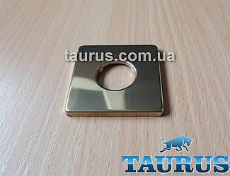 "Золотая квадратная декоративная чашка (фланец) CUBE GOLD из нержавеющей стали, размер 48х48 мм, на 1/2"""