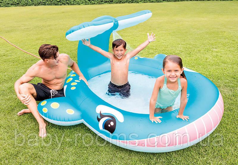 Детский бассейн Intex Кит с фонтаном 200 литров