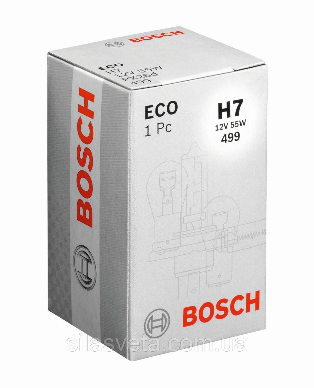 """Автомобильная галогенная лампа """"BOSCH"""" (H7)(12V)(55W)"""