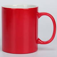 Чашка сублимационная хамелеон полуглянец КРАСНАЯ