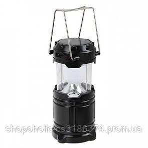 Кемпинговая LED лампа G 85 c Power Bank и солнечной панелью черная