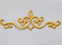 Термоклеевой декор золото.Размер 17,5х6см.Цена за 1шт