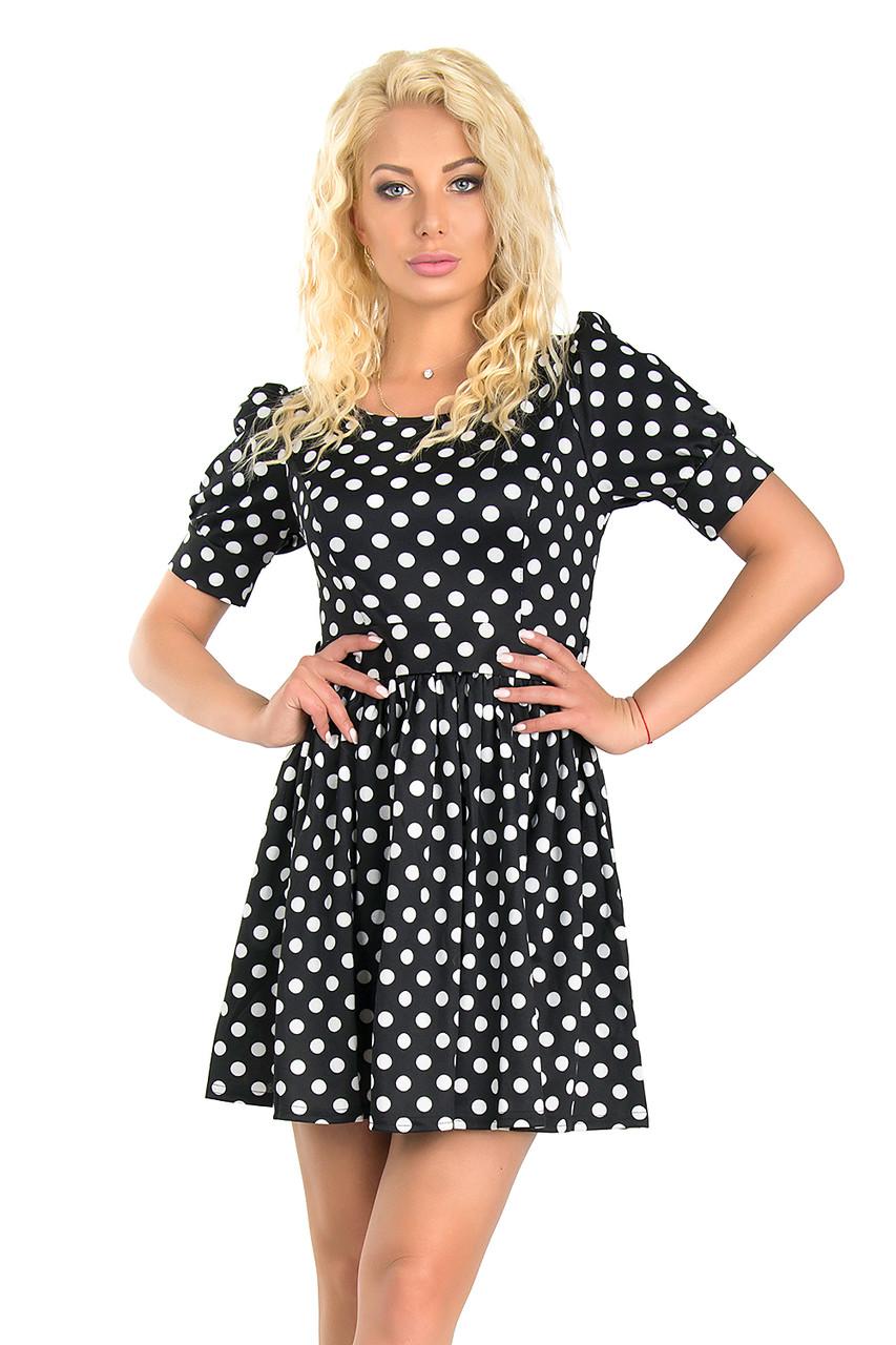 Стильное платье в горох (44)
