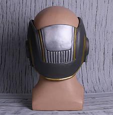 Крутой шлем Звездного Лорда из Стражей Галактики с подсветкой. Латексная маска Квил, фото 3