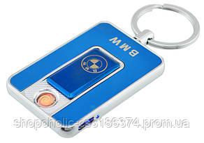 Спиральная электрическая USB зажигалка UKC 811 BMW Blue