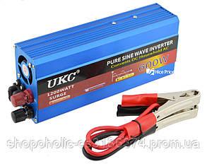 Преобразователь напряжения(инвертор) UKC 12-220V 600W с чистой синусоидой