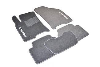 Ворсовые коврики для Chevrolet Aveo (Т 200) (2002-2007) Текстильные в салон авто (серые) (StingrayUA.)