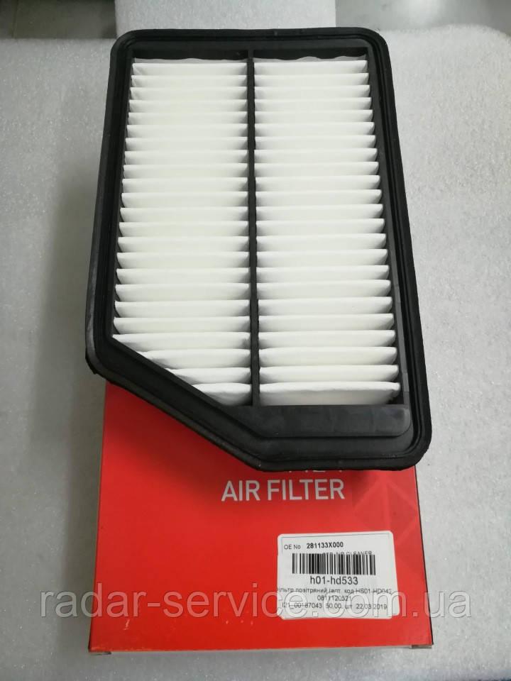 Фильтр воздушный киа Сид 3 1.4-1.6i, KIA Ceed 2016-18 JD, H01-HD533, 281133x000
