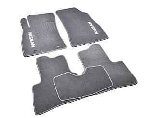 Ворсовые коврики для Nissan Primastar (2001-) Текстильные в салон авто (серые) (StingrayUA.)