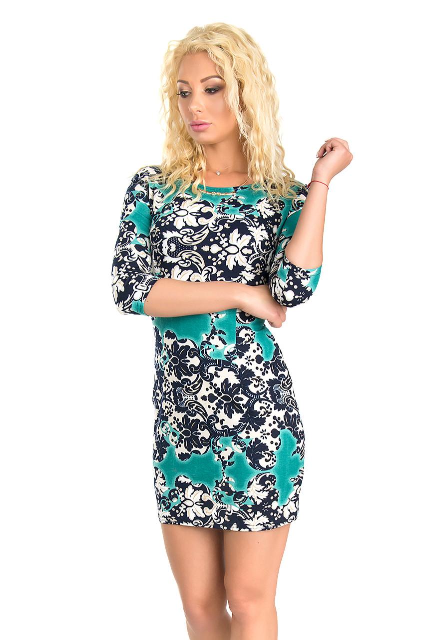 Красивое трикотажное платье (в расцветках 42-44)