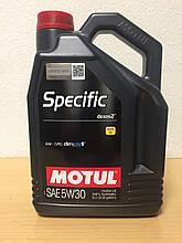 Масло MOTUL SPECIFIC DEXOS2 5W-30 5л (102643)