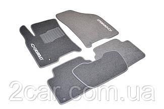 Ворсовые коврики для Chevrolet Lanos (Т 100) (1997-2002) Текстильные в салон авто (серые) (StingrayUA.)