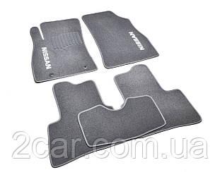 Ворсовые коврики для Nissan Primera P10 (1990-1996) Текстильные в салон авто (серые) (StingrayUA.)