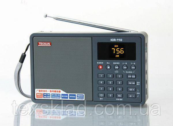 Радиоприемник цыфровой портативный TECSUN ICR-110 + mp3