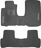 Ворсовые коврики для Honda Stream (2006-) Текстильные в салон авто (серые) (StingrayUA.)
