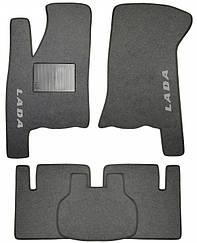 Ворсовые коврики для Lada 2107 Текстильные в салон авто (серые) (StingrayUA.)