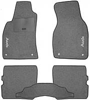Ворсовые коврики для Audi A8 (D3) (2002-2009) Текстильные в салон авто (серые) (StingrayUA.)