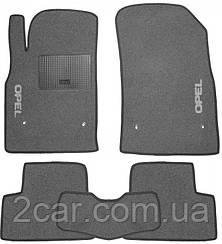 Ворсовые коврики для Opel Astra H (2004-2009) Текстильные в салон авто (серые) (StingrayUA.)
