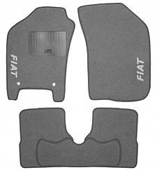 Ворсовые коврики для Fiat Doblo II (2010-) Текстильные в салон авто (серые) (StingrayUA.)