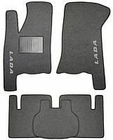 Ворсовые коврики для Lada 21099 Текстильные в салон авто (серые) (StingrayUA.)