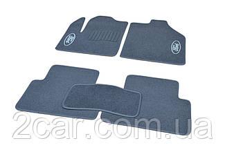 Ворсовые коврики для Ford C-Max (2011-) Текстильные в салон авто (серые) (StingrayUA.)