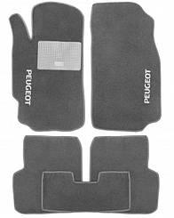 Ворсовые коврики для Peugeot 4007 Текстильные в салон авто (серые) (StingrayUA.)