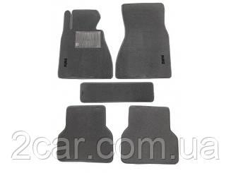 Ворсовые коврики для BMW 5-серия (E60) (2003-2010) Текстильные в салон авто (серые) (StingrayUA.)