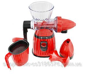 Соковыжималка и мороженица ручная 2 в 1 Kitchen Master LMY 662 Red