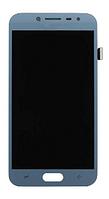 Дисплей (экран) для Samsung J250F Galaxy J2 (2018) + тачскрин, голубой, с регулировкой яркости, (TFT), копия