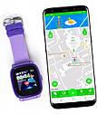 Детские Водонепроницаемые часы с gps Q300S (Q100 aqua) фиолетовые, фото 2