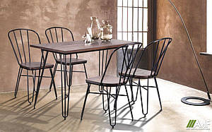 Комплект обеденной мебели АМФ Smith 120 + Clapton
