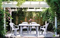 Комплект пластиковой мебели АМФ Сорренто + Ишия белая, фото 1