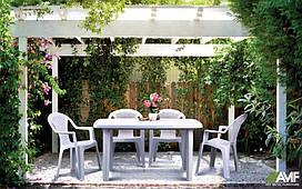 Комплект пластиковой мебели АМФ Сорренто + Ишия белая