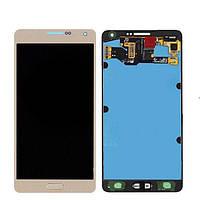 Дисплей Samsung A700 Galaxy A7 + тачскрин, золотистый, без регулировки яркости, (TFT), копия