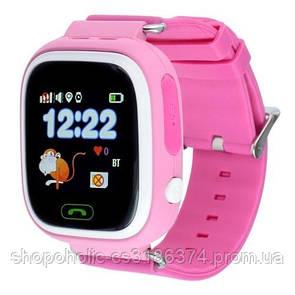 Детские умные часы-телефон с GPS и прослушкой  Q100 (Q90) розовые
