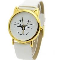 """Часы женские """"Кот"""" белые"""