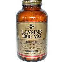 L-лизин, Solgar, 1000 мг, 250 таблеток