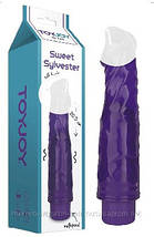 Вибратор ласкающие язычки Sweet Sylvester Vibrator Purple 20,5см. на 4см. Оргазм Гарантирован