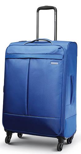 Практичный четырехколесный чемодан гигант 97/112 л. Carlton Vayu 090J478;04 кобальт(голубой)