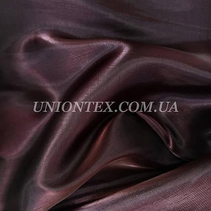 Ткань органза марсала, фото 2