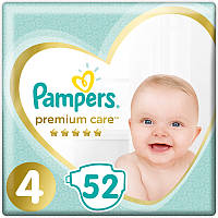 Pampers Premium care р.4 (8-14кг) 52шт. Памперсы для детей