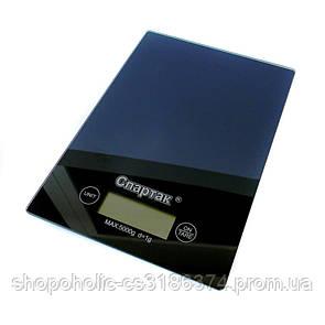 Электронные кухонные весы на 5 кг Спартак CK-1912 Black