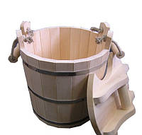 Sauna Pro Запарник с крышкой липа 30 л. (С-131)
