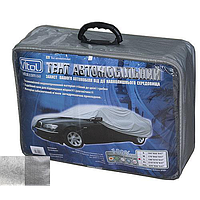 Тент автомобильный CC13401 L серый с подкладкой PEVA+PP Cotton/483х178х120 к.з
