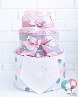 Торт из вещей и памперсов / подгузников. Подарок новорожденному / на выписку из роддома / на крестины