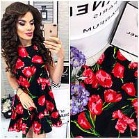Мини платье с цветочным принтом, фото 1
