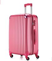 Ударостійкий великий чемодан Ambassador Scallop A8540 Малиновий