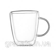 Чашечка для чая и капучино с двойным дном / двойными стенками 350 мл