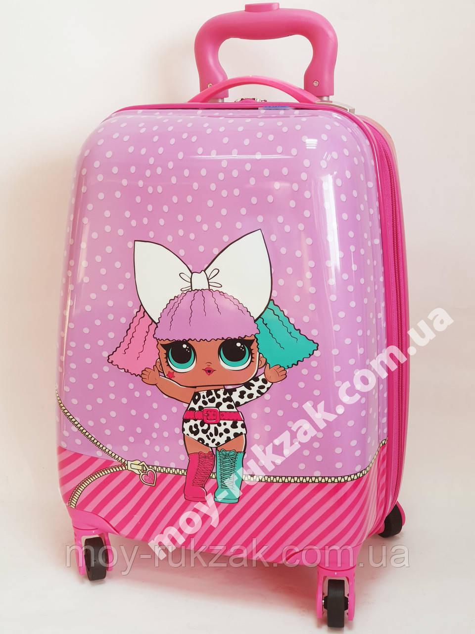 Детский чемодан дорожный на колесах «Куклы ЛОЛ» LOL-2