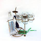 Мини-бар Человечек 4 с рюмками кованый, фото 3